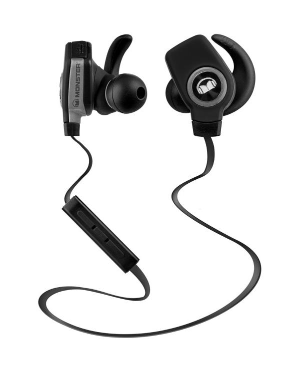 Ecouteur sans-fil isport superslim de Monster Le son Pure Monster Sound® Bluetooth® sans fil (APT-X + AAC) pour un son d'une qua