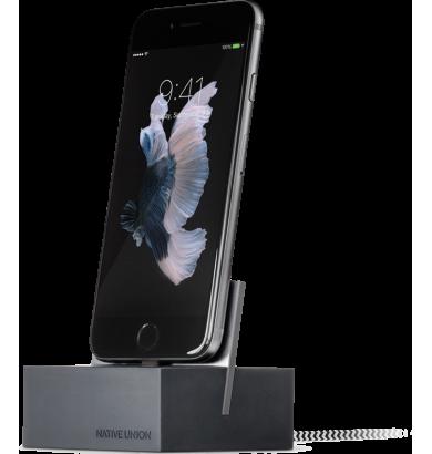 Dock Apple Iphone gris, socle de chargement avec câble pour votre iphone