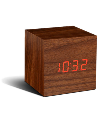 Gingko - réveil led avec finition type bois - Cube Click En le dotant d'une ligne épurée et d'atouts technologiques, la marque G