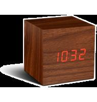 Gingko - réveil led avec finition type bois - Cube Click  - 1