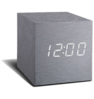 Gingko - réveil led avec finition type bois - Cube Click  - 2