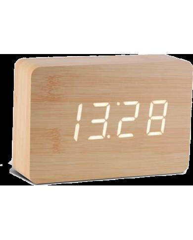 Gingko - réveil led avec finition type bois - Click Clock En le dotant d'une ligne épurée et d'atouts technologiques, la marque