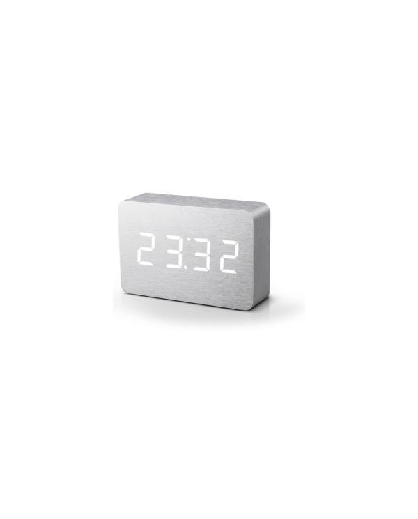 Gingko - réveil led avec finition type bois - Click Clock  - 3