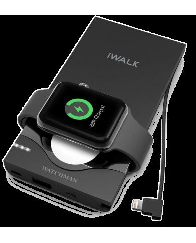 Batterie de secours pour iPhone et Apple watch -Iwalk - WatchMan - 10000mah Batterie de secours pour iPhone et Apple Watch intég