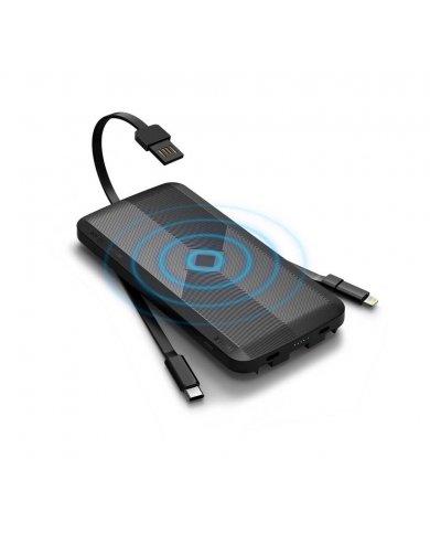 Powerbank - induction - 3 câbles intégrés  - 8000mah La scorpion Air intègre 2 câbles de charge USB C, Micro USB avec une adapta