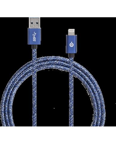 Big ben - Câble tissé - USB et Connectique Lightning - 2m Câble lightning tissé de 2 mètres. Un câble de charge et de synchronis