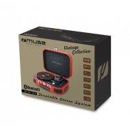 Muse - tourne disques vinyles  et enceinte bluetooth Tourne disque avec haut-parleur intégré et bluetooth. - 1