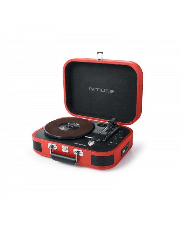 Muse - tourne disques vinyles  et enceinte bluetooth Tourne disque avec haut-parleur intégré et bluetooth. - 3