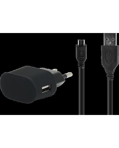 BigBen - MiniChargeur MicroUSB - Chargeur Secteur MicroUSB 2A noir Un chargeur peu encombrant pour éviter la panne de batterie d