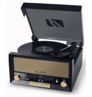 Muse - Combiné CD- Vinyle - MT-112 W Muse MT - 112W est un combiné au style rétro et desing comprenent un lecteur CD, VINYLE,Enc