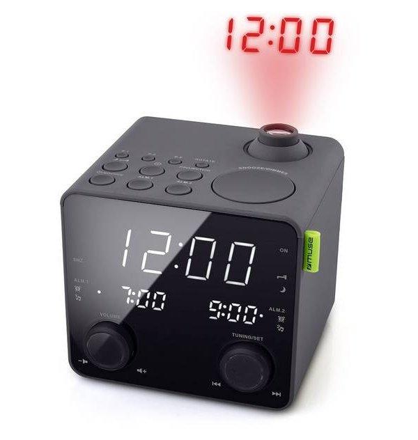 Muse - Radio Réveil Avec Projection M-189P M-189P est un radio réveil avec la projection de l'heure au plafond,choississez de vo