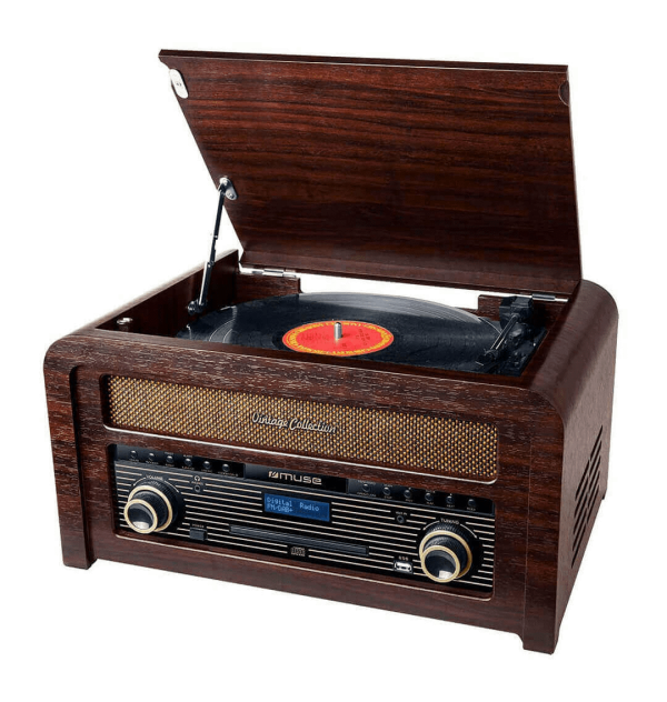 Muse - MT-115 DAB - Micro-Chaine CD Avec Platine Vinyle et Radio FM/DAB Muse MT-115 DAB est une micro-chaine avec lecteur CD, Vi