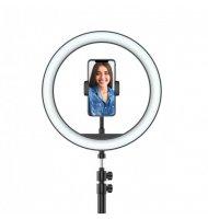 Selfie Ring Light - Sur Pied - Support Téléphone Avec la ring light sur pied et jusqu'a 3 support téléphone, améliorer la qualit