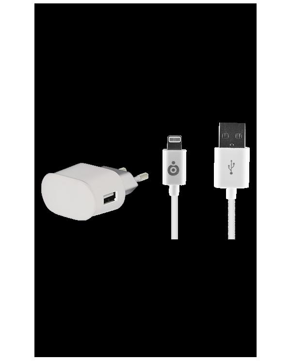 Chargeur Secteur avec câble Lightning certifié de 2,4 A BigBen Connected - 1