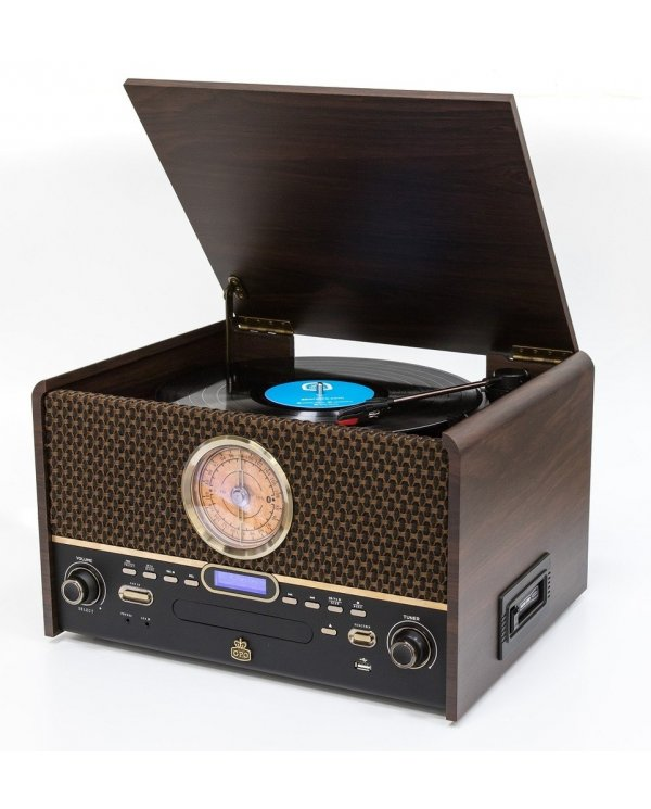 Chesterton - Vinyle CD K7 Radio FM/DAB - Enceinte BT  - 1