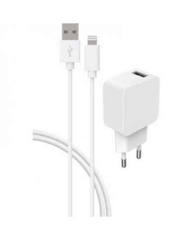 Bigben - Chargeur Secteur - USB A/Lightning 2,4A Ce pack de charge vous permettra de recharger rapidement votre appareil. - 1