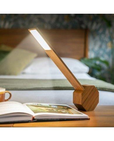 Gingko - Octagon - Lampe De Bureau LED - Horloge Et Réveil - Cherry  - 1