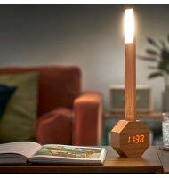 Gingko - Octagon - Lampe De Bureau LED - Horloge Et Réveil - Cherry  - 3