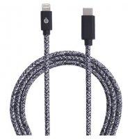 Bigben - Câble Lightning/USB-C 3A - Tissé 2 Mètres - Noir