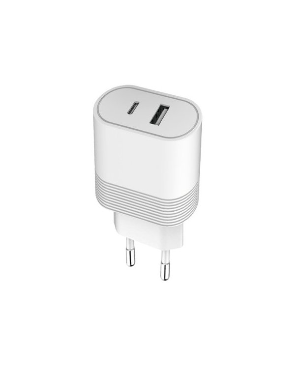 Bigben - Chargeur Secteur USB A+C 12+20W - Blanc