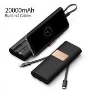 Iwalk - Batterie Externe - 20000 mAh -  USB, USB-C Et Lightning Intégré