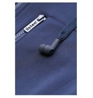 Sweat zippé avec écouteurs et micro intégrés néoprène bleue marine de HoodieBuddie DJ3114 Sweat zippé de HoodieBuddie, en néopèr